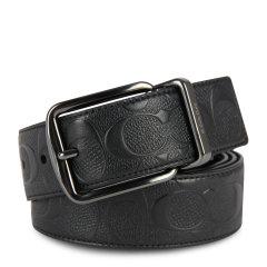 【包税】COACH/蔻驰 男士双面两用牛皮双C压纹针扣腰带 55157 多色可选图片