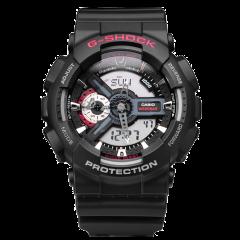 CASIO/卡西欧男表G-SHOCK系列大表盘双显黑金电子表多功能防震防水运动手表男GA-110GB-1A图片