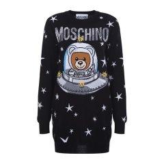 MOSCHINO/莫斯奇诺 18秋冬 黑色太空熊针织女士连衣裙 DV0483 5401 1555图片