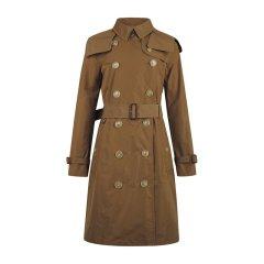 BURBERRY/博柏利 女士经典肯辛顿版型连帽塔夫绸中长款Trench风衣外套图片