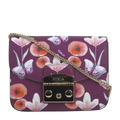 FURLA/芙拉女士METROPOLIS系列明星款时尚印花斜挎包链条包单肩包锁扣包941763紫色图片