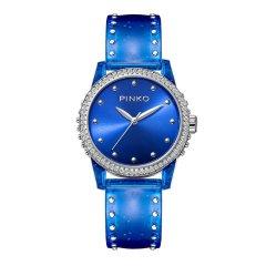 Pinko/品高意大利进口简约时尚石英女表Durian系列透明PU表带图片