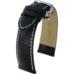 HIRSCH/海奕施 Royal系列 01027 银色折叠扣牛皮表带 L码图片
