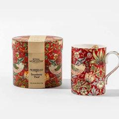 Morris&Co. 英国骨瓷马克杯 英式咖啡杯 陶瓷水杯 经典草莓小偷(蓝/红/棕)|LOEWE合作花纹图片