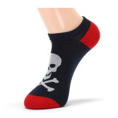 【断码】CORGI/CORGI英国王室御用品牌百搭个性骷髅男袜复古手工船袜短袜图片