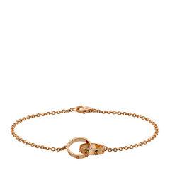 CARTIER/卡地亚  LOVE玫瑰金双环手链、白金双环手链,图片