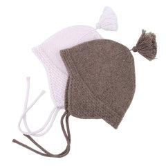 NUcollection绒球绑绳婴儿羊毛帽子图片