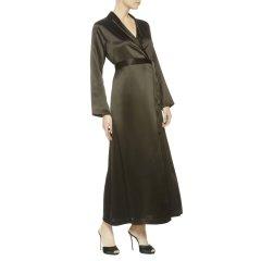 LAPERLA/萝贝拉女士睡衣SILK系列舒适高贵真丝系带长睡袍开衫丝绸睡袍图片