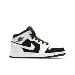 【奢品节可用券】Air Jordan 1 Mid TuxedoAJ1黑白熊猫男女中帮篮球鞋  554724-113 554725-113图片
