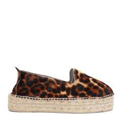 MANEBI豹纹花色女士平跟鞋图片
