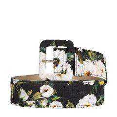 Dolce&Gabbana/杜嘉班纳  女士复古印花针扣腰带 BE1220AE549 深蓝色 85图片