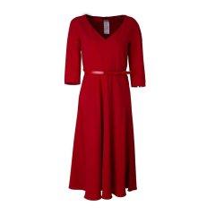 MaxMara/麦丝玛拉 经典修身 百搭时尚 收腰百褶连衣裙 女士连衣裙BALENIO62261889图片