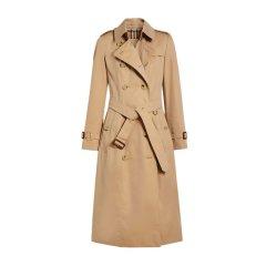 Burberry 巴宝莉 19春夏 女士纯棉双排扣收腰束带长款紧身大衣外套风衣图片