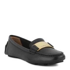 【免税】【三色可选】Calvin Klein/卡尔文·克莱因女鞋小白鞋  秋季新款CK英伦时尚纯色套脚豆豆单鞋  女士乐福鞋 34E5038图片
