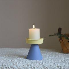 YIWEI/已未 无尽柱烛台 莫兰迪色陶瓷ins浪漫摆件北欧家居设计装修图片