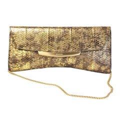 JINAMMI/JINAMMI吉娜米SaenulEveningclutchM复古水蛇皮女士晚宴链条手拿包图片