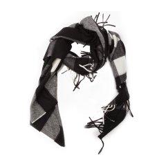 【包税】【18秋冬】BURBERRY/博柏利Half Mega女士 羊绒穗边 围巾/披肩围巾 40653图片