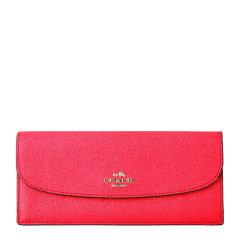 COACH/蔻驰  女士红色真皮长款信封钱包钱夹 F54008图片