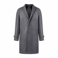 BURBERRY/博柏利 男士大衣 羊毛混纺深灰色中长款男士大衣图片