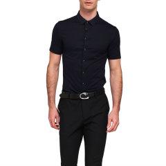 Degre Zero/零度 初心修身版 男士短袖衬衫免烫无褶皱衬衣A版图片