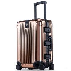 LIEMOCH/利马赫 智能防盗其它材质不锈钢旅行箱20寸登机箱其他材质中性款式青年拉杆箱TSA海关密码锁万向轮图片