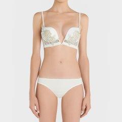 LAPERLA/萝贝拉女士PEONY系列 时尚奢华蚕丝薄纱性感三角裤图片