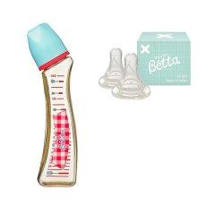 【包税】Betta/贝塔 宝宝钻石系列S3-Gingham奶瓶-PPSU-240ml 0-1/1-3/3-6/6个月以上适用 日本原装 温柔呵护图片
