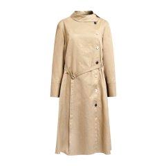 PORTSPURE/PORTSPURE2018秋冬新款女装长袖翻领修身长款女士连衣裙RA9D015GWD010图片