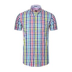 Paul&shark/鲨鱼-男士红色翻领短袖系扣男士衬衫图片