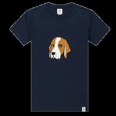 HAZZYS/哈吉斯夏季新款韩版男上衣纯色休闲动物印花纯棉修身男士短袖T恤ASTZE08BI02图片