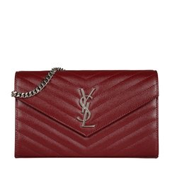Yves saint Laurent/圣罗兰 金属logo绗缝牛皮链条包女士斜挎包 377828BOW02图片