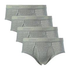 Calvin Klein/卡尔文·克莱因  男士内裤黑色纯棉白LOGO三角内裤四条装 U4000图片