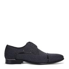 CHARRIOL/夏利豪 黑色羊皮男士商务鞋商务正装图片