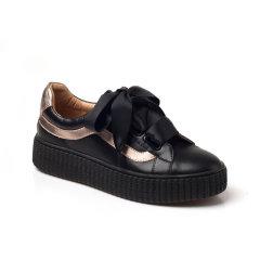 Ozwear ugg/Ozwear ugg  女士休闲运动鞋  条纹拼接 蝴蝶结/魔术贴 两穿运动鞋图片