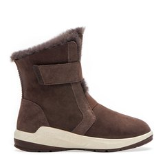 COZY STEPS/COZY STEPS 羊皮毛一体时尚魔术贴女士雪地靴 巧克力色 37图片