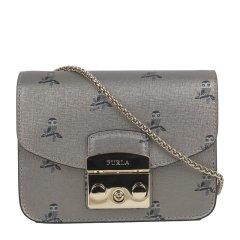 FURLA/芙拉 女士METROPOLIS系列时尚印花牛皮斜挎包链条单肩包锁扣包 941763图片