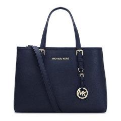 Michael Kors/迈克·科尔斯 MK女士Saffiano皮革  女款海军蓝色中号手提单肩包 30H3GTVT8L图片
