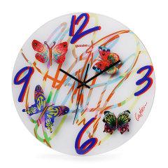 利快Guzzini意大利进口casa创意时尚彩色蝴蝶静音挂钟钟表室内摆件   内用5号电池  树脂材质 多色可选图片