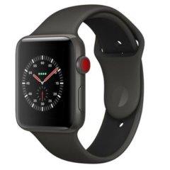 APPLE/苹果 watch3 蜂窝版 Watch Series 3 GPS+蜂窝网络表款 深空灰色铝金属表壳搭配黑色运动型表带智能手表图片