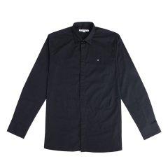 Guy Laroche/姬龙雪简约纯色男士长袖衬衫潮流新款衬衫商务职业百搭修身纯棉长袖图片
