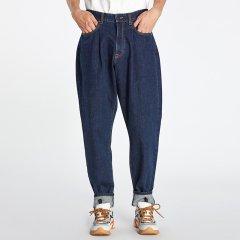 kktp 牛仔裤 男士休闲哈伦裤 牛仔休闲裤 宽松蓝色廓形休闲裤图片