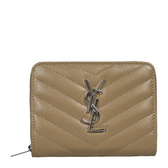 Yves saint Laurent/圣罗兰 牛皮YSL LOGO按扣拉链女士钱包 403723BOW02图片