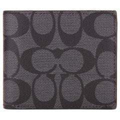 COACH/蔻驰 男士 PVC 经典C纹印花对折短款钱包钱夹带卡夹  F74993图片
