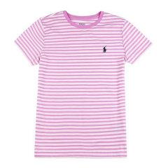 【包税】Ralph Lauren/拉夫劳伦  女士薄款条纹圆领短袖T恤 4470-5017图片