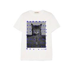 【Designer Womenswear】Lou de Nannan/Lou de Nannan 立体蓝点咪TEE 三色 女士短袖T恤图片