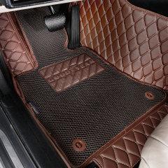 固特异(Goodyear)3D丝圈皮革大包围双层可拆卸汽车脚垫 飞扬系列 专车定制厂家直发 黑色图片