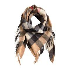 【18秋冬】BURBERRY/博柏利 格纹流苏羊绒中性围巾#图片