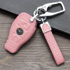pinganzhe 新款 奔驰 专用汽车头层牛皮钥匙包 真牛皮钥匙包 钥匙套 钥匙扣图片