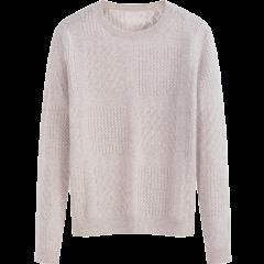 ERDOS/鄂尔多斯18秋冬圆领绞花套衫羊绒衫女士针织衫/毛衣图片