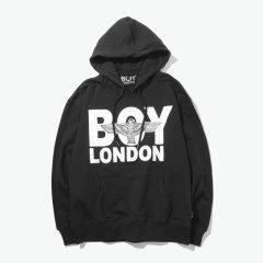 【英版】BOY LONDON/boy london 伦敦男孩 男女同款秋冬前鹰字母连帽 长袖 卫衣 男士 运动 卫衣 套头衫图片